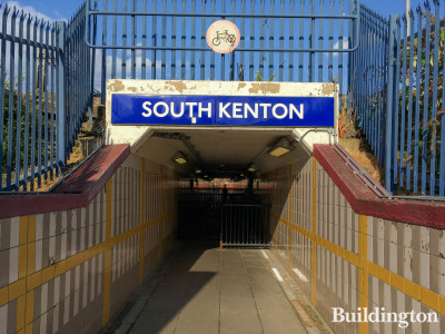 Entrance to South Kenton Station from The Link off Nathan Road HA9.