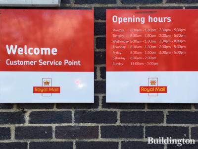 Royal Mail Wembley Delivery Office opening times in January 2020.