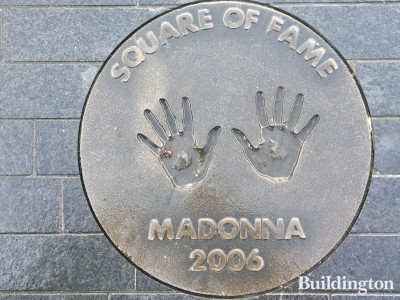 Madonna's handprints in front of Wembley Arena