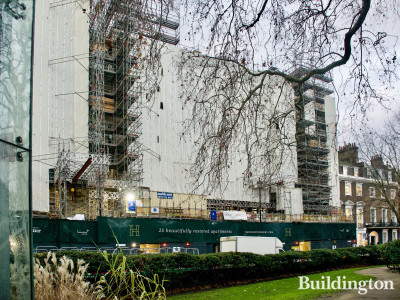 Harcourt House development under Construction. View from Cavendish Square.