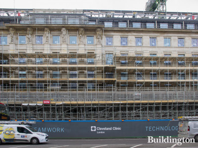 Cleveland Clinic under construction at 33 Grosvenor Place - across the road from Buckingham Palace grounds.