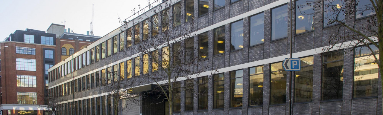 Techhub London building front elevation on Clere Street, London EC2.