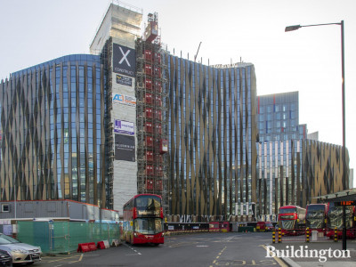 View to 15-16 Minories development from Aldgate High Street and Aldgate Station.