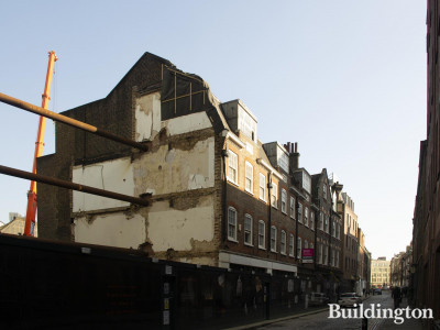Blossom Street development and 5-7 Folgate Street building.