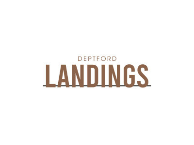 Deptford Landings development logo.