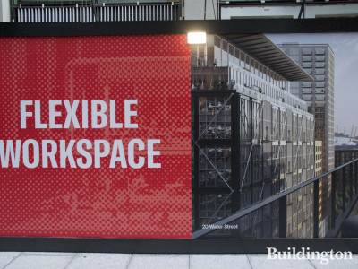 Flexible workspace at 20 Water Street building in Wood Wharf, London E14.