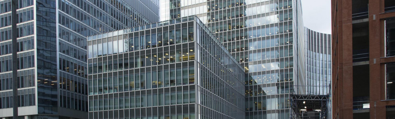 20 Churchill Place building in Canary Wharf in London E14