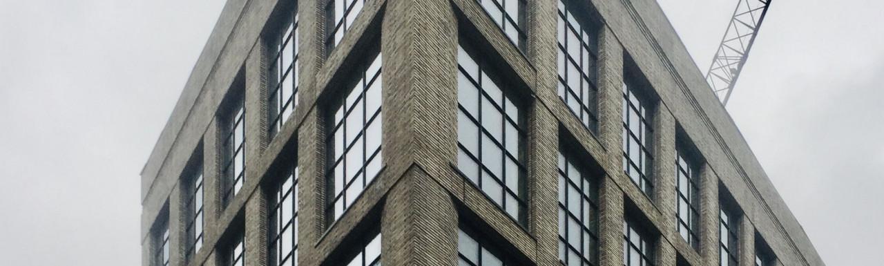 Twenty Bonhill office development on the corner of Bonhill and tabernacle Street in Shoreditch, London EC2.