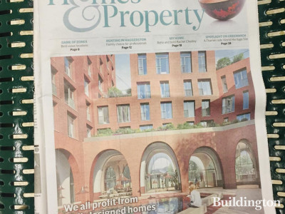 Cadence development on the front cover of Homes & Property, Evening Standard.