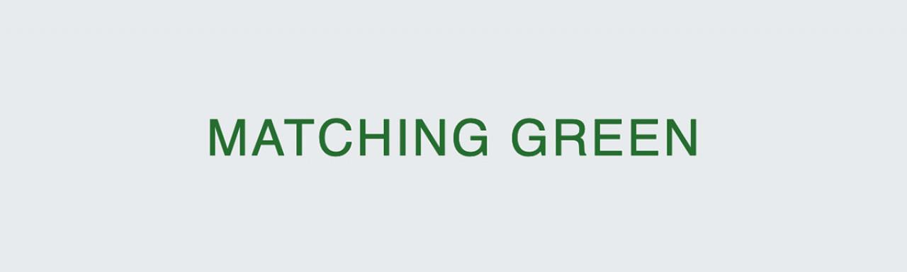 A development by Matching Green
