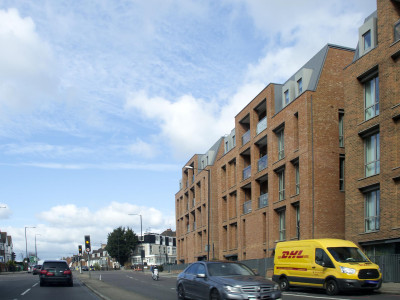 Gertler House and Heartfield House on Finchley Road. Kidderpore Green development.