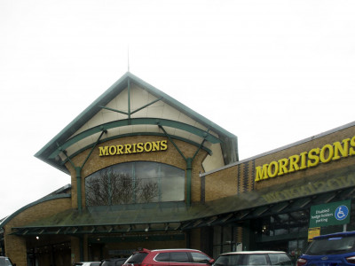 Morrisons Superstore at the Camden Goods Yard development site in spring 2020.