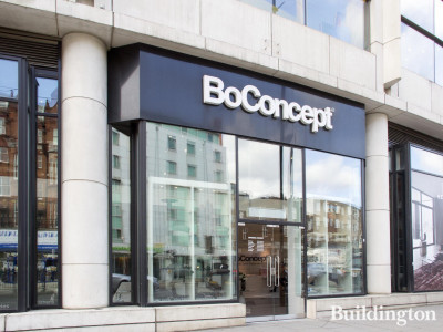 BoConcept furniture showroom at the O2 Centre on Finchley Road, London NW3.