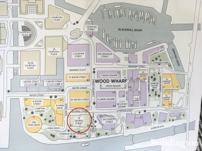 10 George Street site plan - location in Wood Wharf.