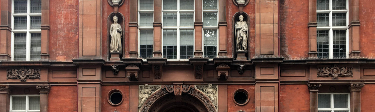 Caxton Hall entrance on Caxton Street in Westminster, London SW1.