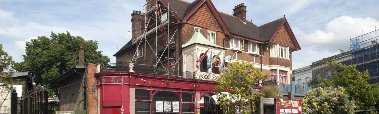 Hootananny pub building in Brixton, London SW2.