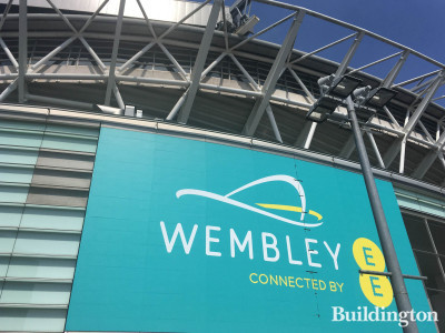 Wembley Stadium South Way elevation.