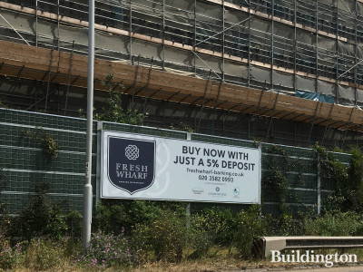 Advertising at Fresh Wharf development in summer 2020 - Buy now with just 5% deposit.