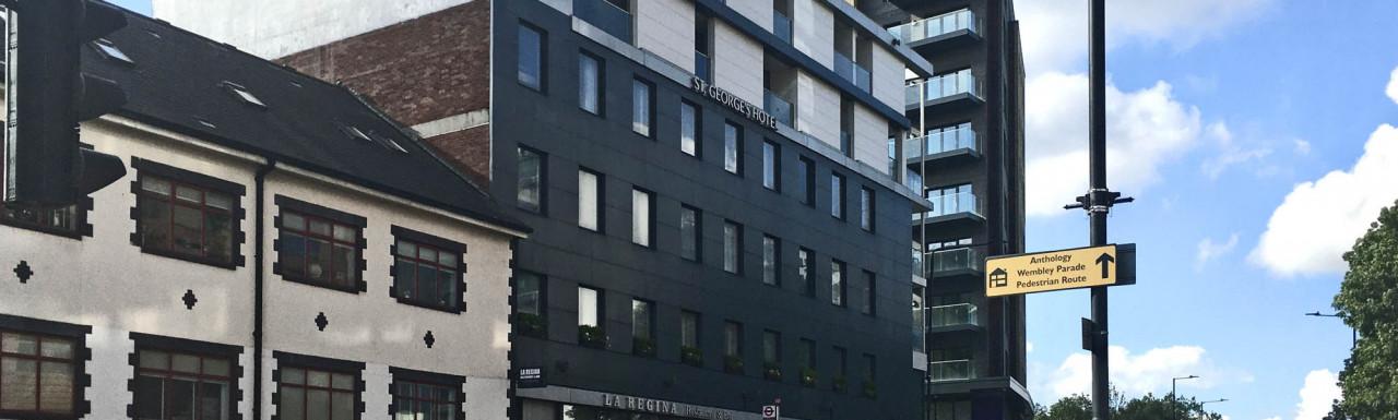 St George's Hotel development site in Wembley HA9.