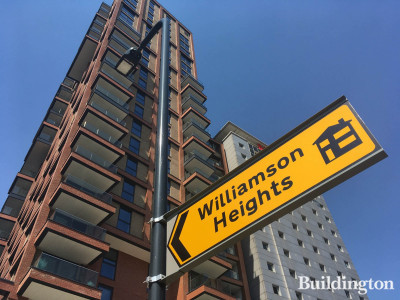 Williamson Heights development sign on South Way, Wembley HA9