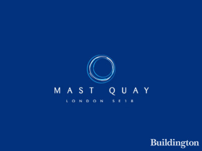 Logo of the Mast Quay development by Comer Group in Woolwich, London SE18.