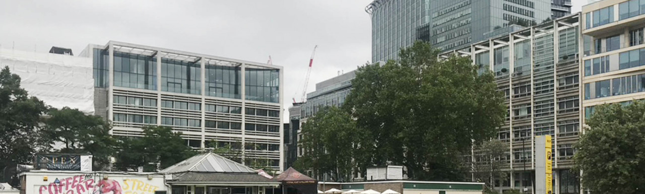50 Finsbury Square building designed by Foster + Partners, completed in 2000.