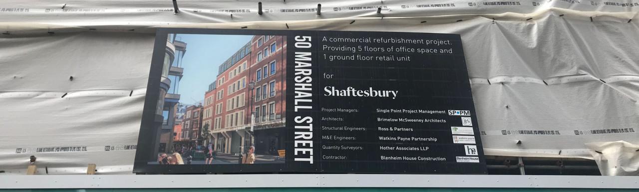 50 Marshall Street office development in Soho, London W1.