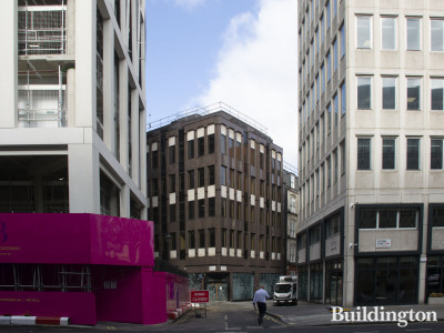 19 Dacre Street building behind The Broadway development before the start of the demolishing works in autumn 2020. View from Victoria Street.