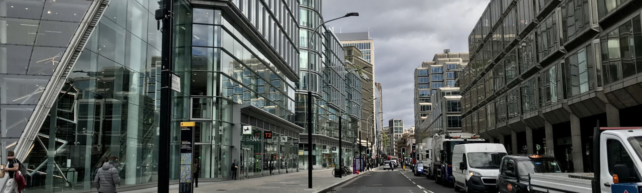Cardinal Place on Victoria Street in autumn 2020.