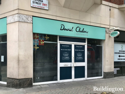 David Clulow Opticians has closed at 61-71 Victoria Street. The nearest store is in Soho at 70 Old Compton Street.