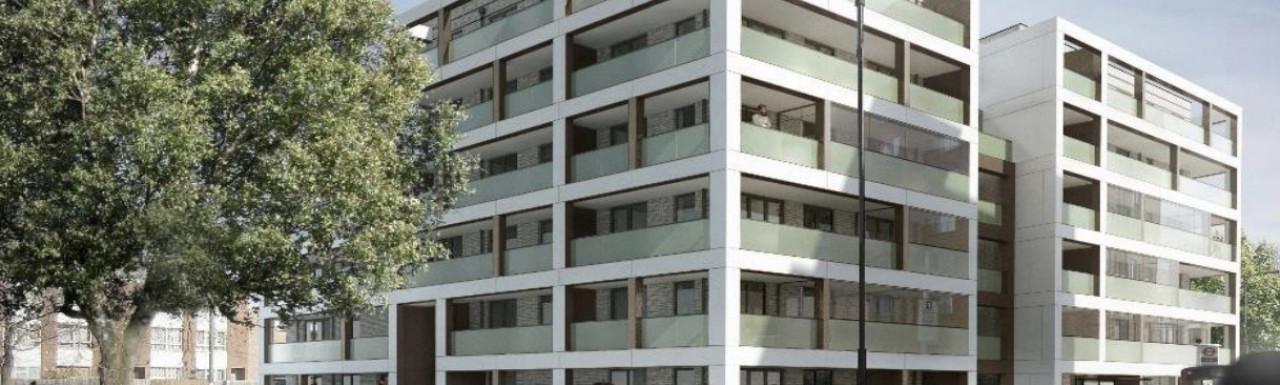CGI of 5-9 Chippenham Gardens development designed by PRP Architects.