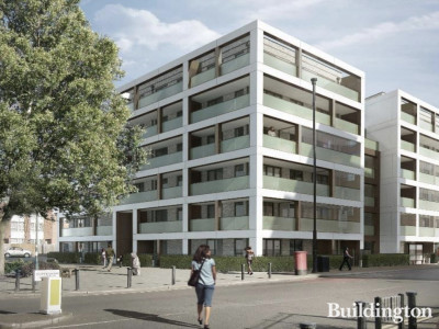CGI of 5-9 Chippenham Gardens development designed by PRP Architects.