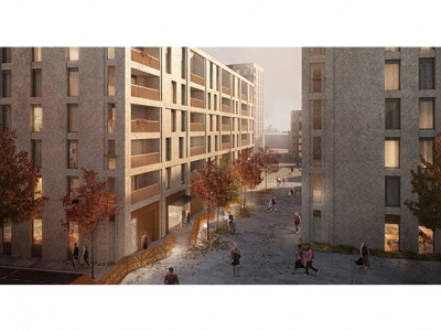 CGI of the development designed by CJCT on the former BT depot site on Paragon Road.
