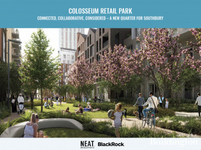 CGI of the proposed Colosseum Retail Park development.