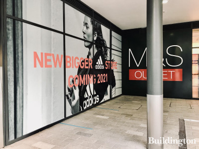 Adidas at London Designer Outlet - new bigger store coming soon. On the ground level next to M&S store.