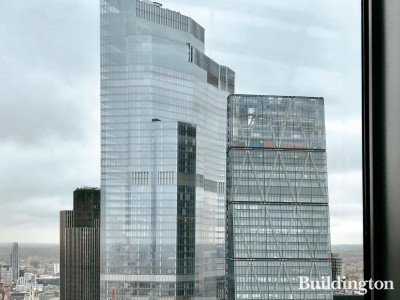 View to 22 Bishopsgate and 40 Leadenhall Street from 20 Fenchurch Street's SkyGarden (floor 35).