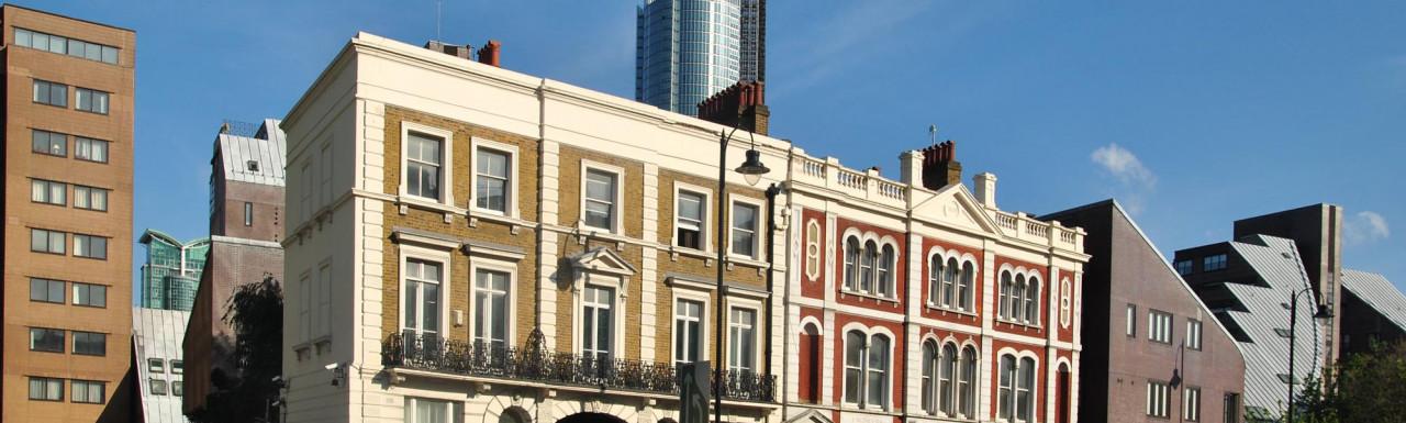 From left - 149-150 Grosvenor Road, 147-148 Grosvenor Road, 146 Grosvenor Road buildings.
