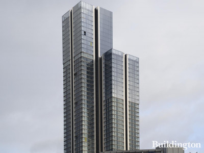South Quay Plaza towers.