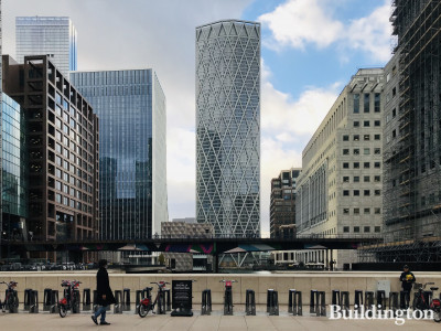 View to Newfoundland from Canary Wharf Station entrance.