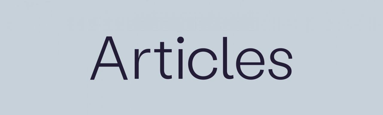 Articles development logo.