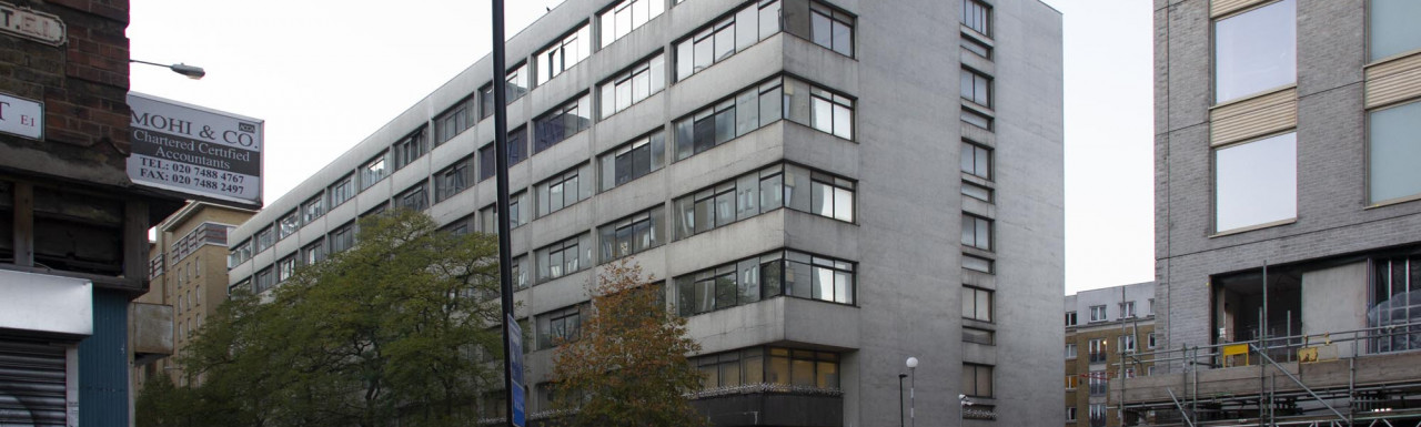 The Former Metropolitan University Building from Commercial Road.
