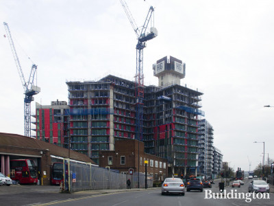 Minavil House development on Ealing Road.