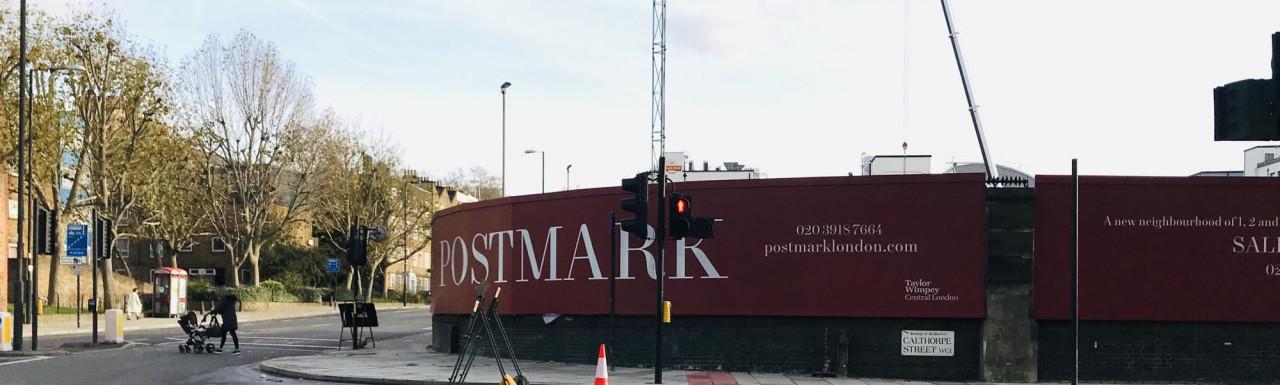 Postmark development site on the corner of Farringdon Road and Calthorpe Street.