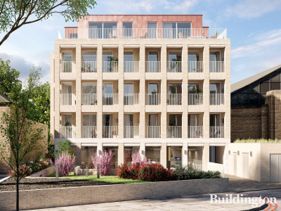 CGI of Two Three Seven Brixton Hill development.
