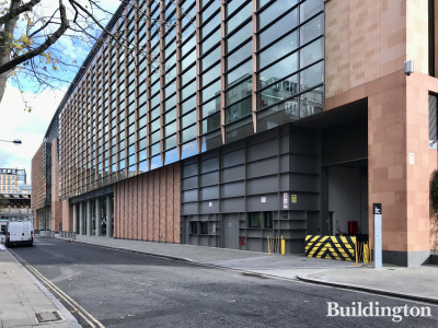 Francis Crick Institute building elevation on Brill Place.