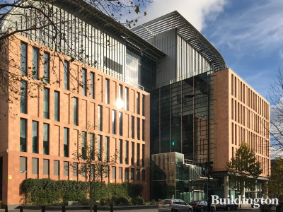Francis Crick Institute Ossulston Street elevation.