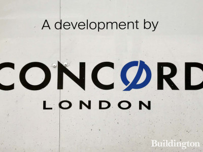 A development by Concord London. Signage at The Great Portland site.