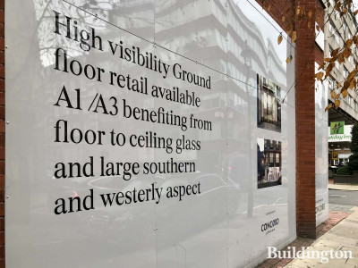 The Great Portland development in Marylebone. High visibility Ground flor retail available A1/A3 benefiting from floor to ceiling glass and large southern and westerly aspect.