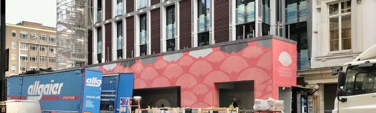 The Residences Mandarin Oriental development under construction on Brook Street.