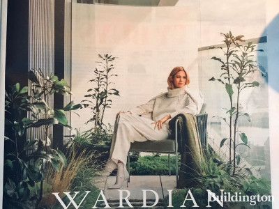 Wardian, a tranquil haven, moments from Canary Wharf, Apartments from £761,000. Price correct on publishing. A joint development by EcoWorld, Ballymore. An advert in The Sunday Times newspaper.